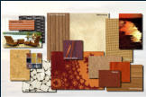 Interior design concept - Typical guestroom materials.